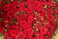 Rött rosenhjärta