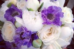 Violett bukett